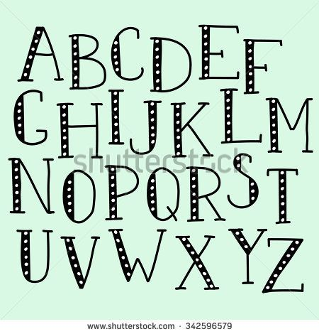 Vector Doodle Alphabet Vector Simple Hand Drawn Letters Thin Serif