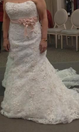 Oleg Cassini CWG464   400 Size  14   Used Wedding Dresses   wedding     Oleg Cassini CWG464 14  buy this dress for a fraction of the salon price on  PreOwnedWeddingDresses com