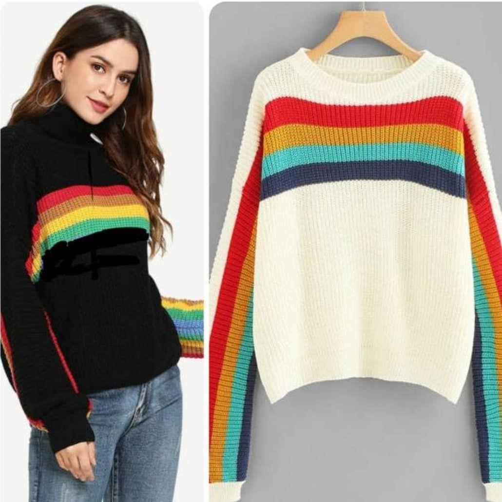 Baju Rainbow Rajut