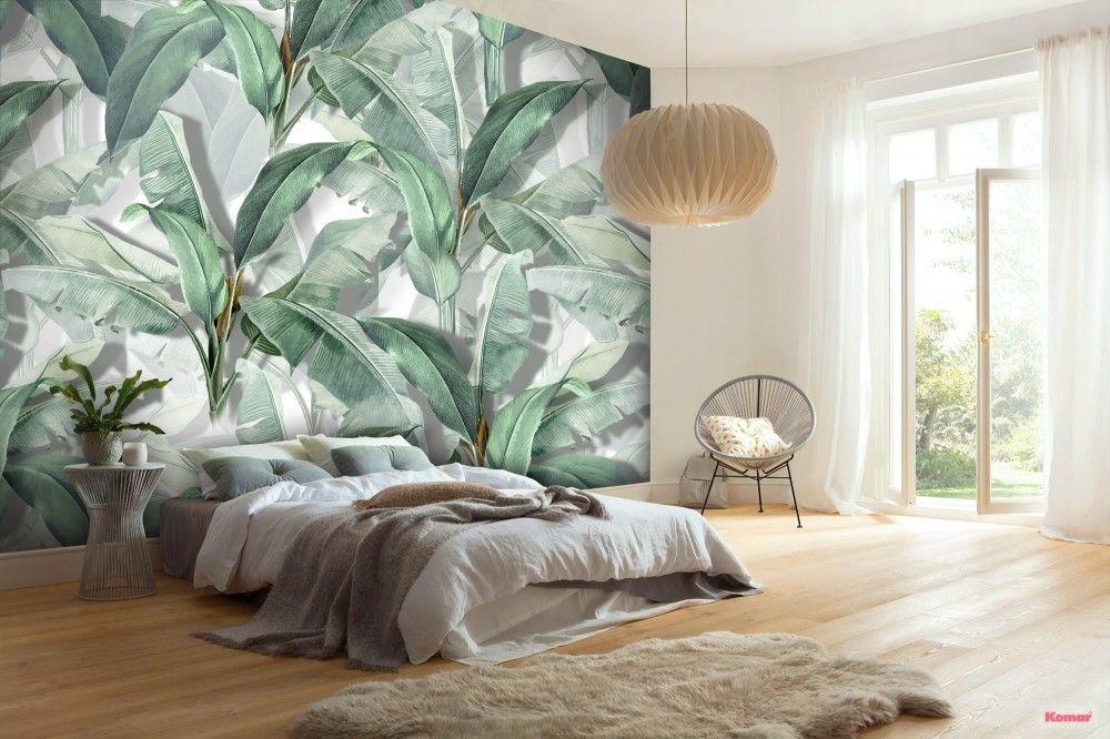 Banana Leaf Wallpaper Wallpaper Mural Wallpaper Walls Bedroom Leaf Wallpaper Wallpaper Living Room Tropical wallpaper bedroom ideas