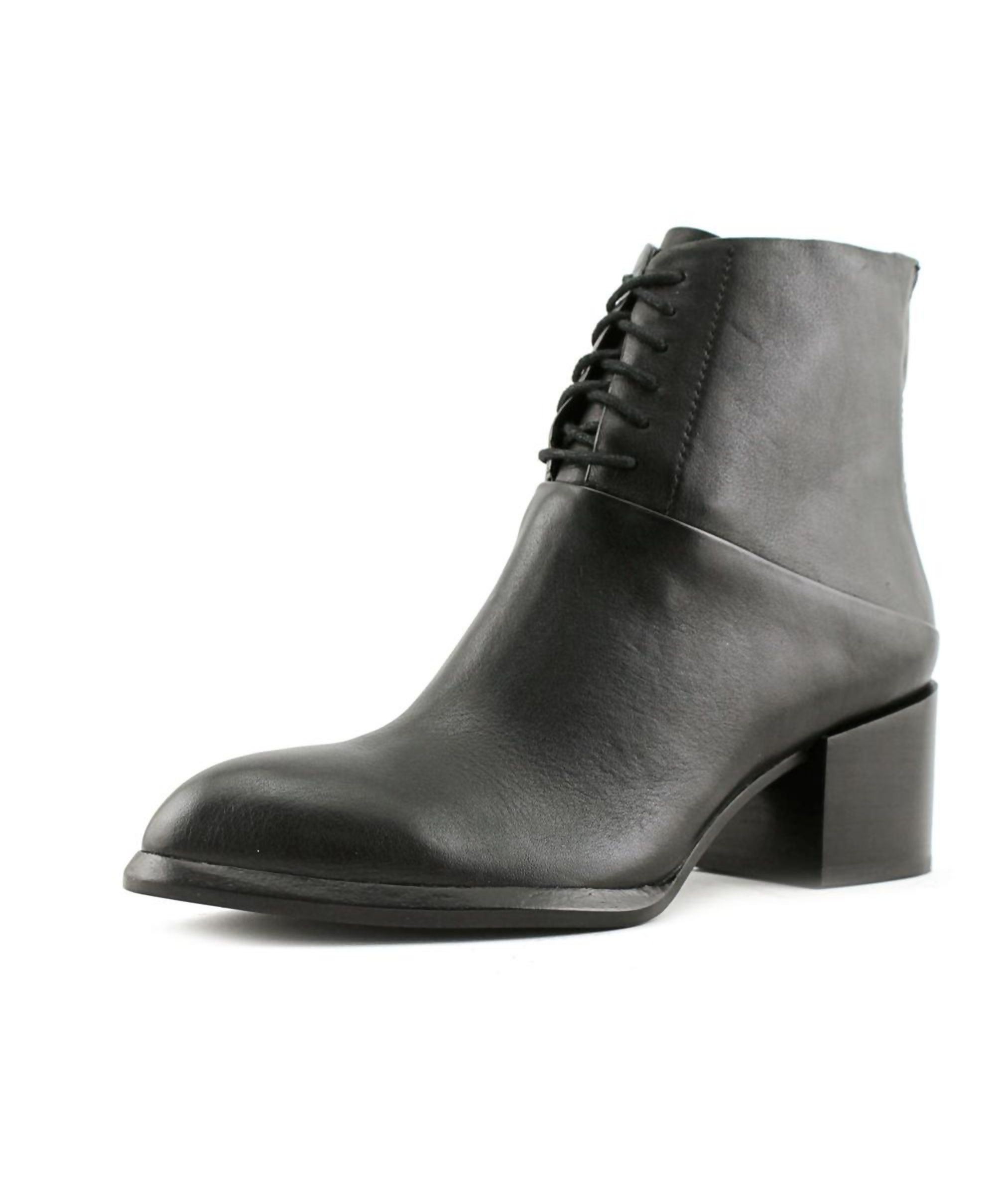 CALVIN KLEIN JEANS | Calvin Klein Jeans Nickia Women Round Toe Leather Black  Ankle Boot #