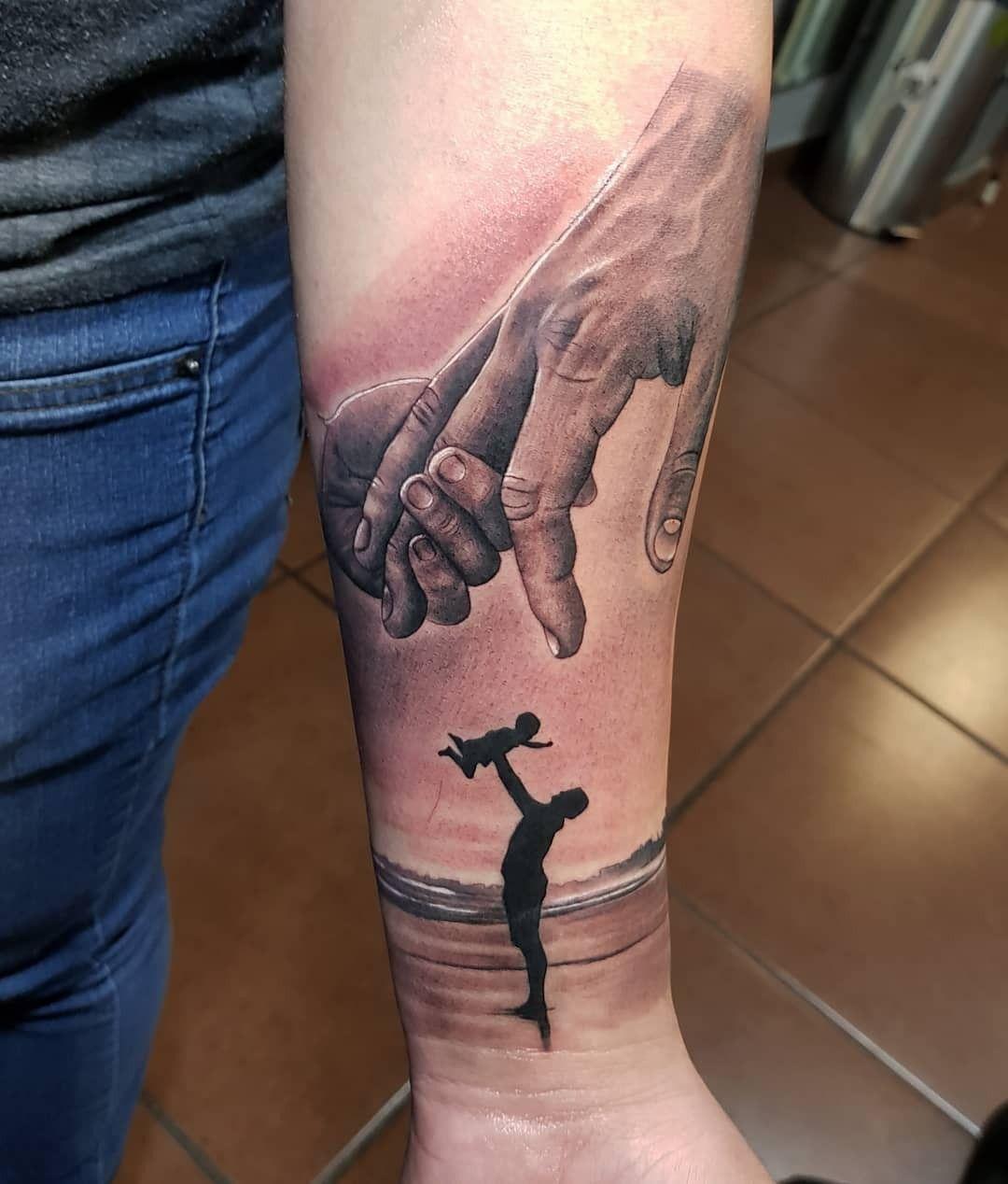 Tatuaje De Padre Y Hijo Mi Trabajo Tatuaje De Padre E Hija
