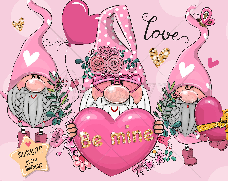 Valentine Elves Rubber Stamp Set