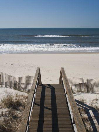 cbf9b03bbe New York, Long Island, the Hamptons, Westhampton Beach, Beach View from  Beach Stairs, USA