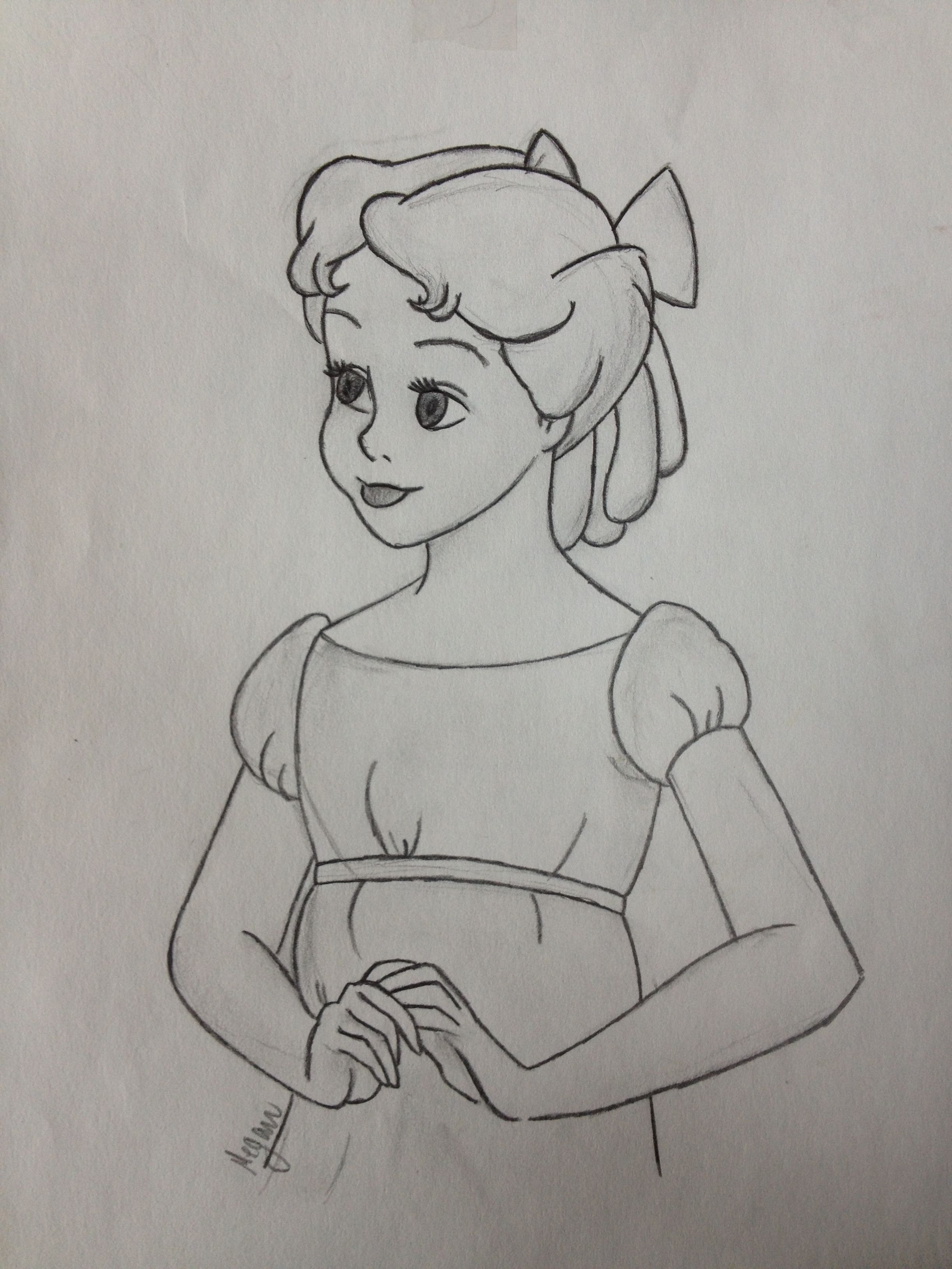 Wendy Was One Of My First Drawings Desenhos Desenhos Para