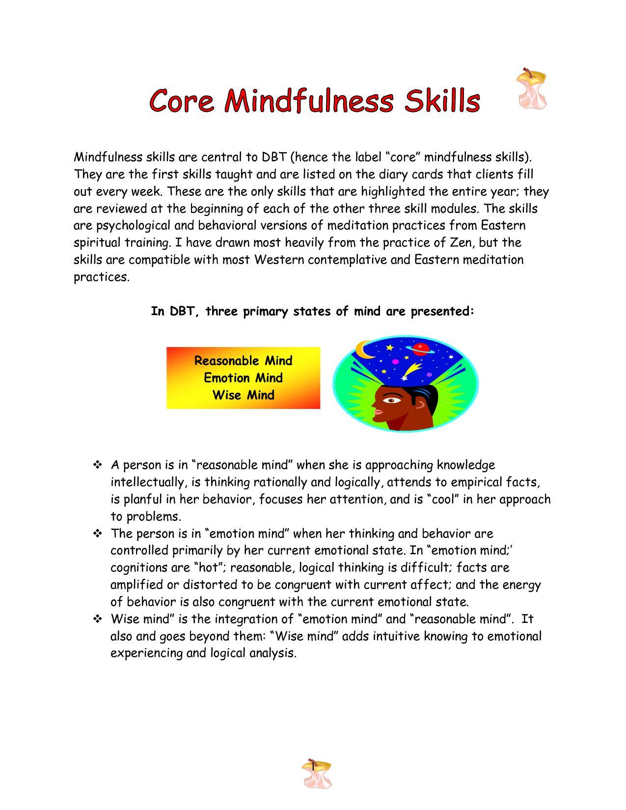 Core Mindfulness Skills