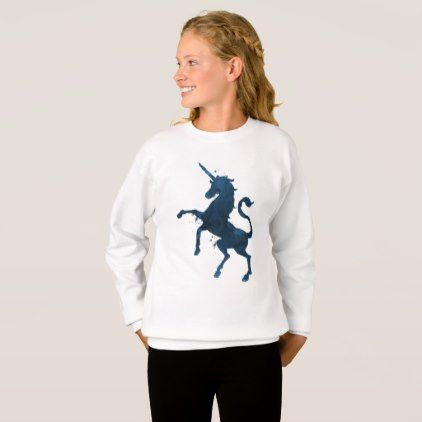 A Unicorn Sweatshirt - toddler youngster infant child kid gift idea design diy