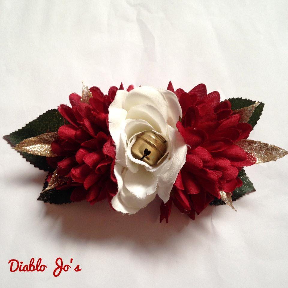 Christmas Jingle bells Hair flower Christmas Alternative Pin Up by DiabloJos on Etsy