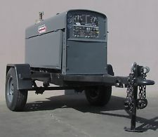 Lincoln Shield Arc SA-250 Welder Trailer 250 Amp Perkins