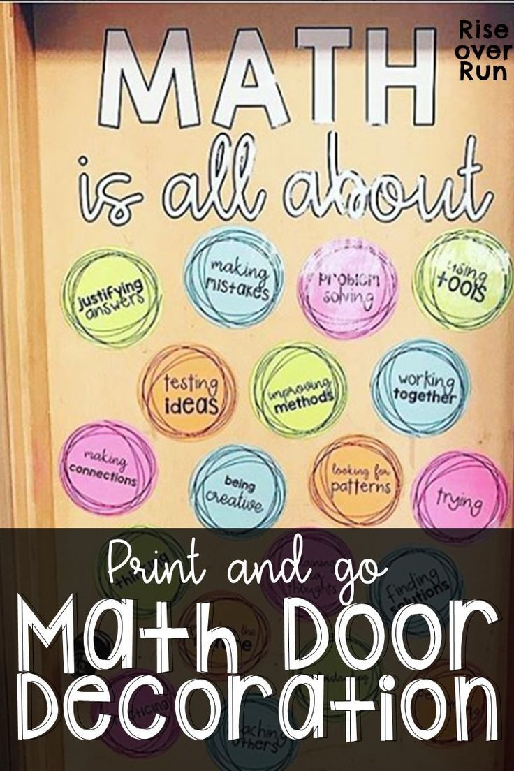 Math is all about... Door Decoration or Bulletin Board #classroomdecor
