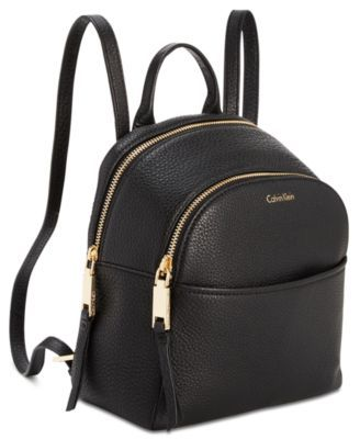 97c84218a0 Calvin Klein Samira Pebble Small Backpack - Black | Products in 2019 ...