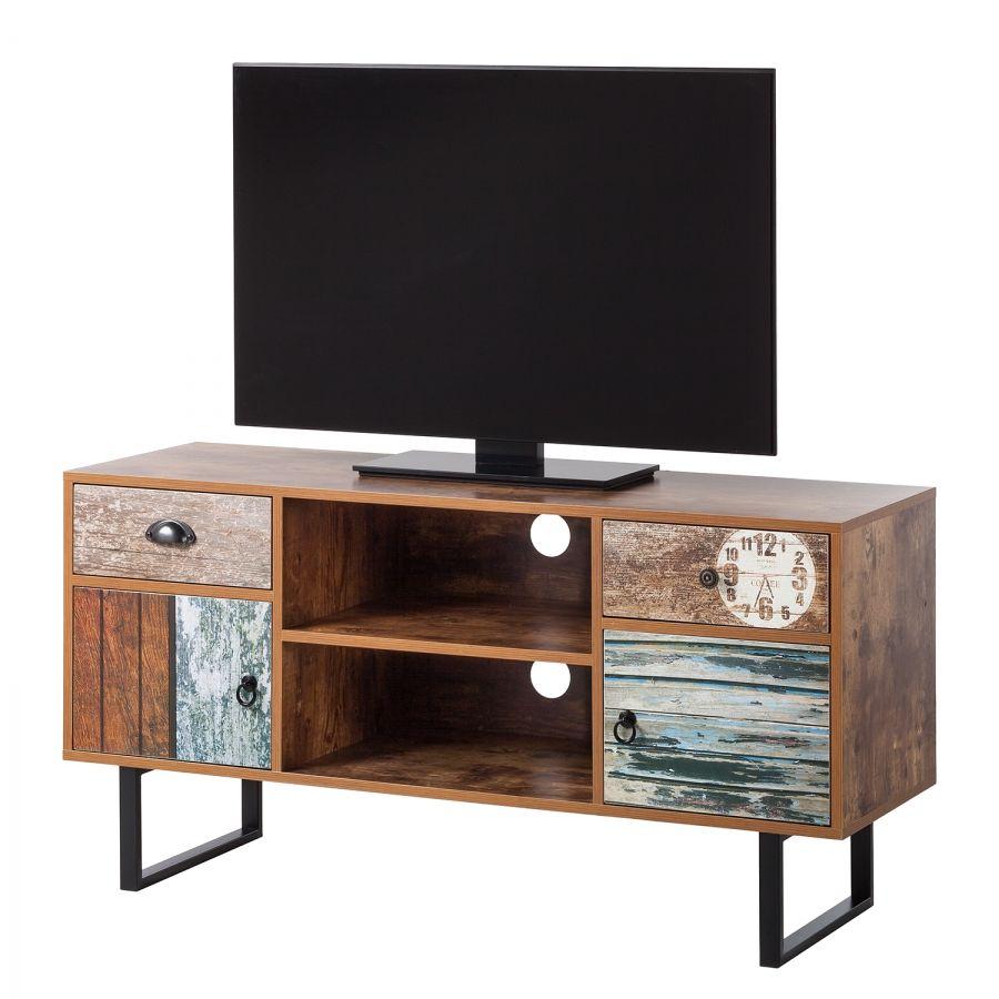 TV-Schrank Ealing - Blau / Sheesham Dekor | New Home | Pinterest