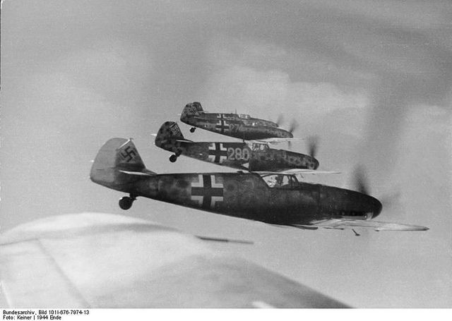 Bf-109Gs of JG 104 Luftwaffe fighter training wing