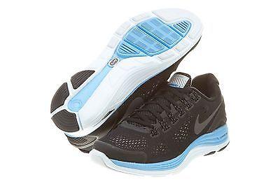 6c60df161f4e2 NIKE LUNARGLIDE+ 4 SHIELD WOMENS 537535-004 Black Blue Running Shoes Wmns Size  6