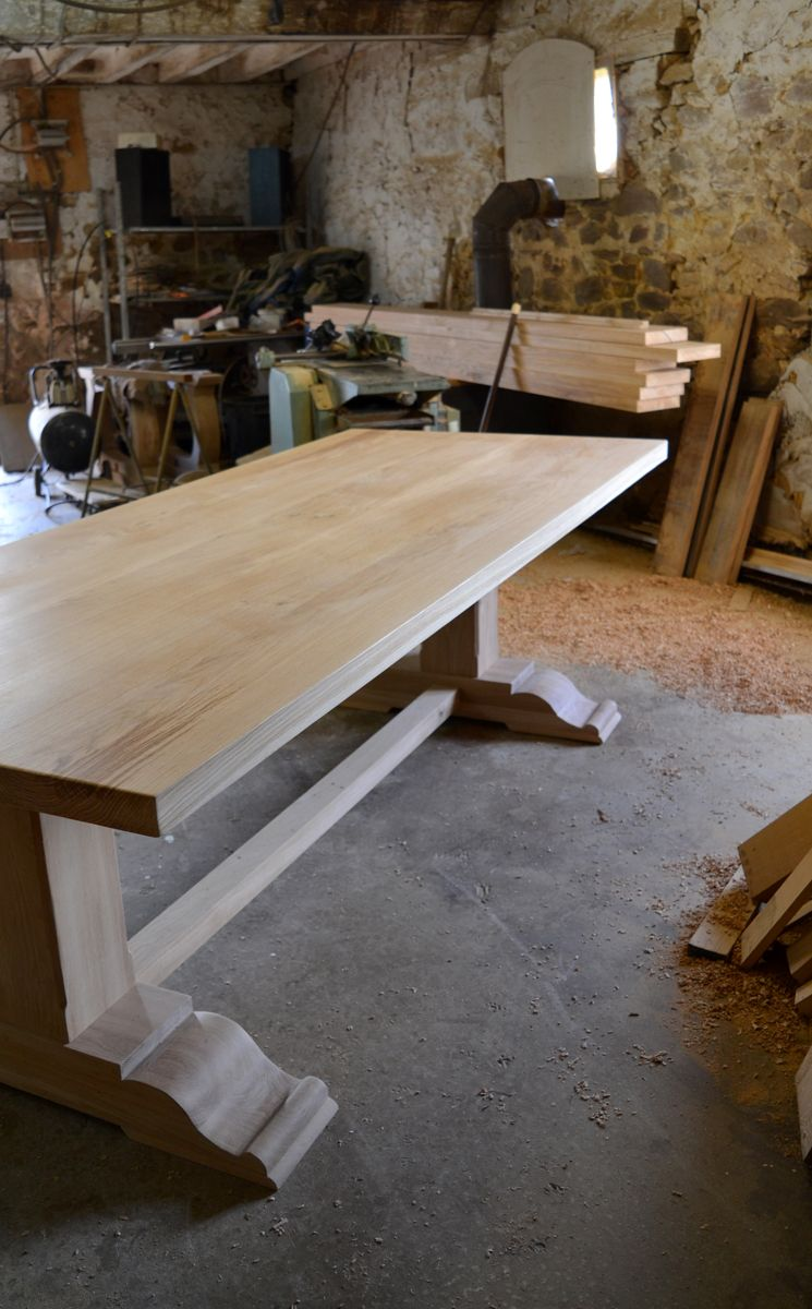 Bespoke Pedestal Refectory Table In 2020 Dining Table Table