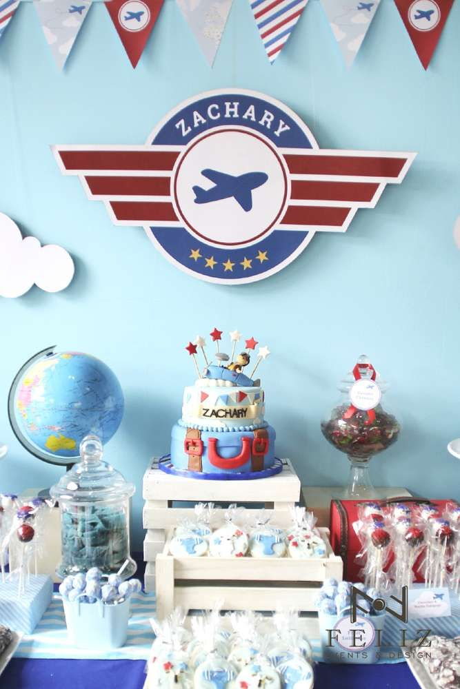 Airplanes Baptism Party Ideas Airplanes Birthdays and Airplane party