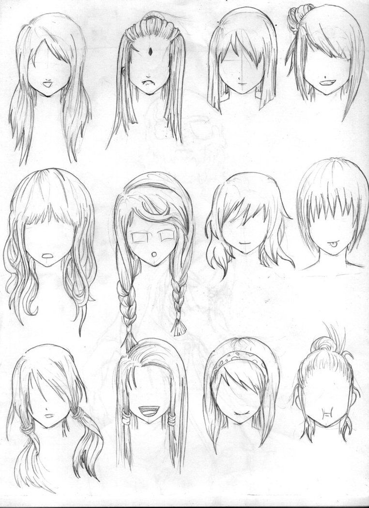 Hair drawing (With images) How to draw hair, Manga