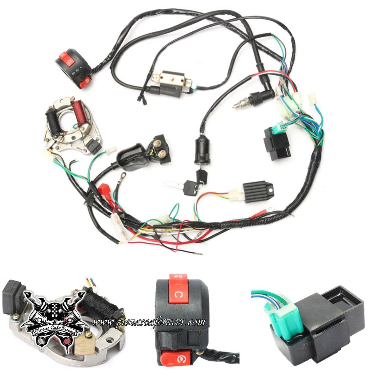 Cableado Completo Con Stator Magneto   Pi U00f1a Luces   Cdi