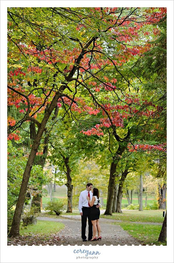 wedding picture locations akron ohio%0A October Autumn engagement session at Canton Garden Center in Canton  Ohio        Stadium Park Drive Northwest  Canton  OH