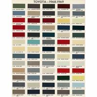 Toyota Color Code Book Sheets For 1968 To 1969 Page 1 Fj40