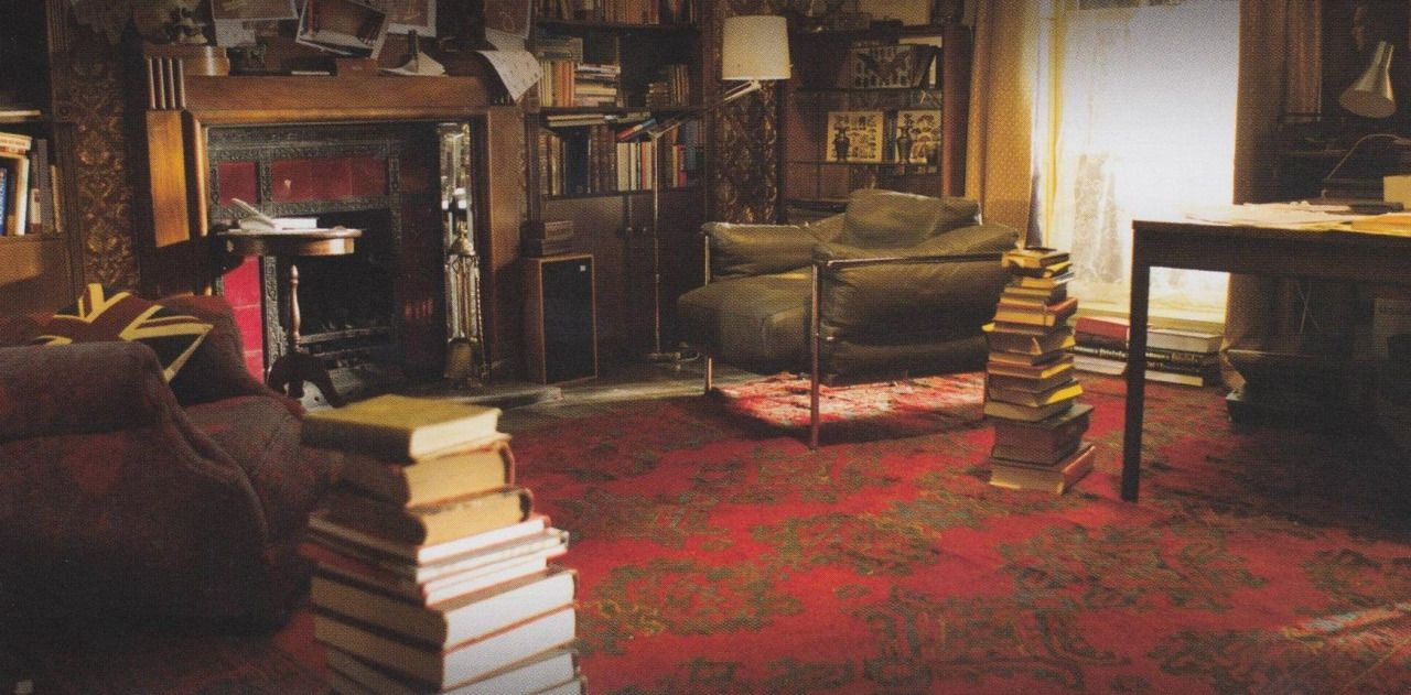BBC Sherlock sets design B living room I always love just how much