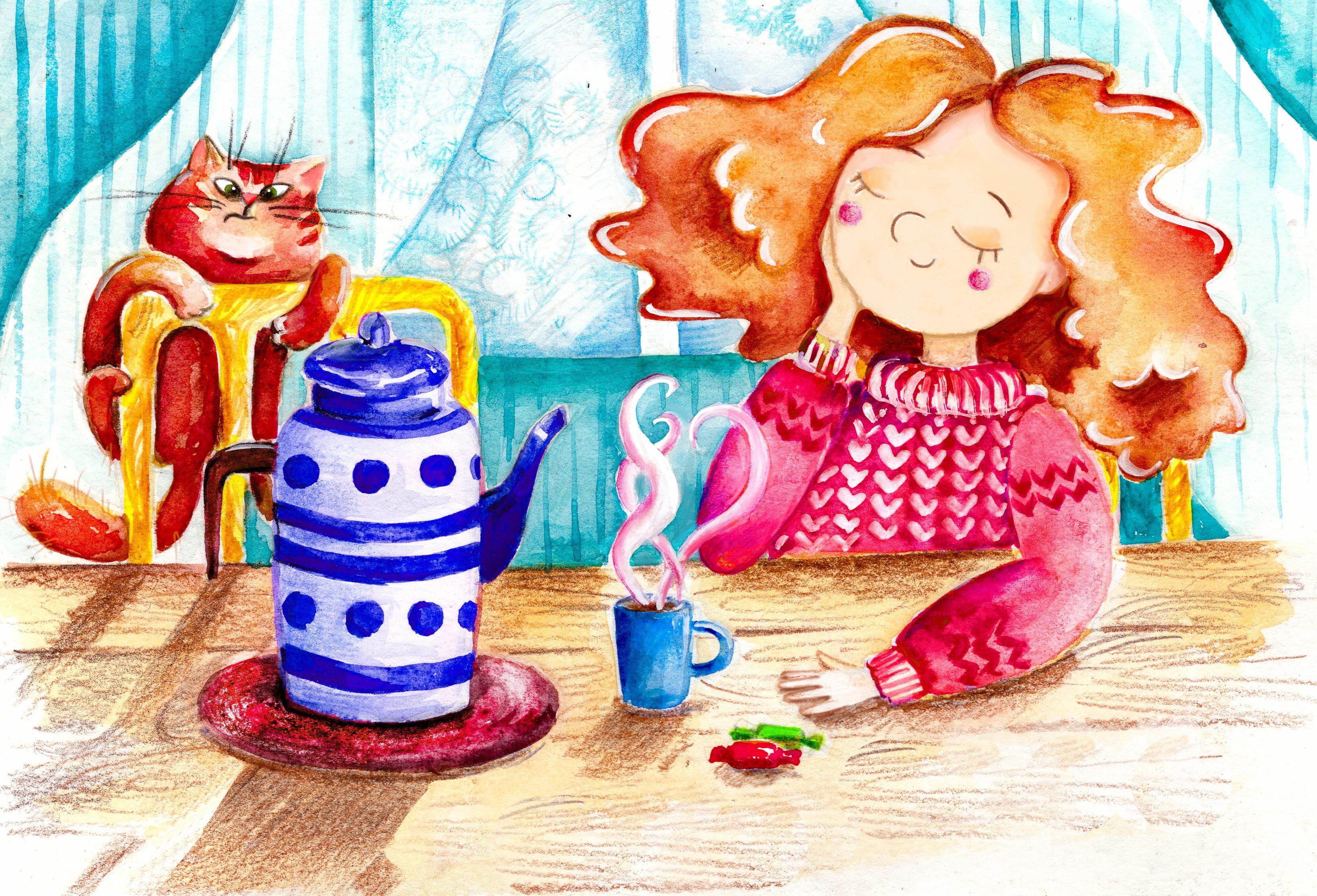 Картинки где пьют чай