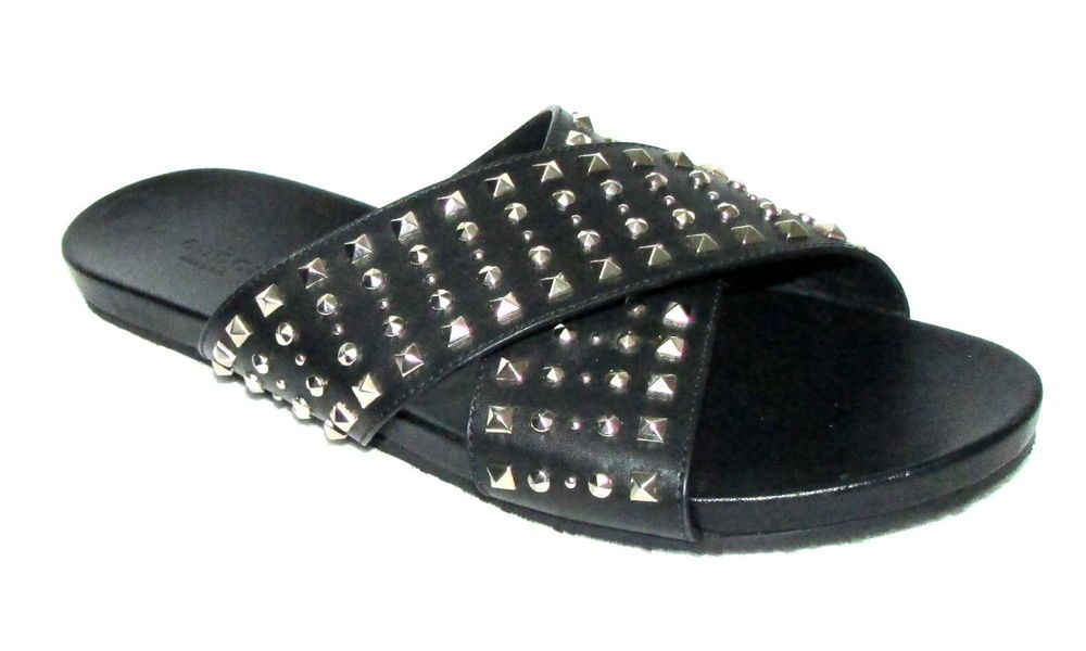 9d447051f55 Details about New Womens Studded Sliders Flat Summer Sandals Cage ...