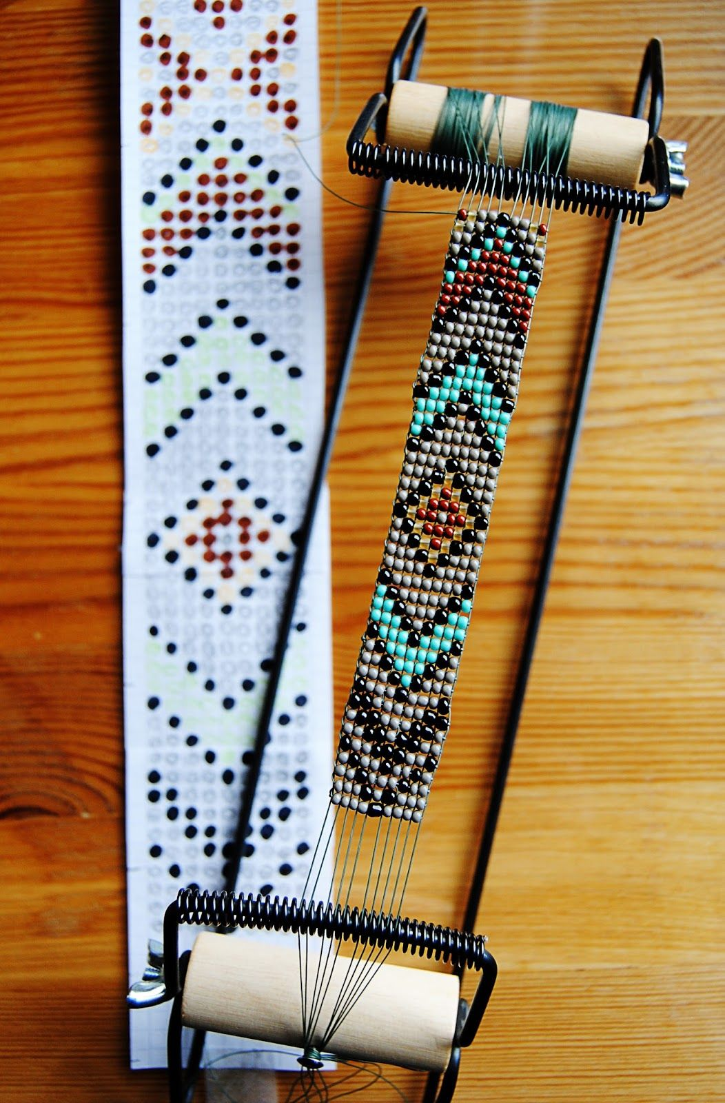 Loom beading instructions diy native american belt with for How to make american indian jewelry