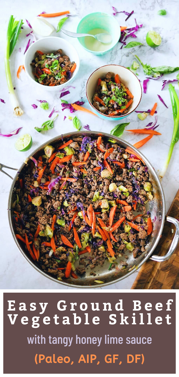 Easy Ground Beef Vegetable Skillet Paleo Aip Gf Df Food Courage Recipe In 2020 Ground Beef Recipes Healthy Ground Beef Recipes Easy Paleo Main Dishes
