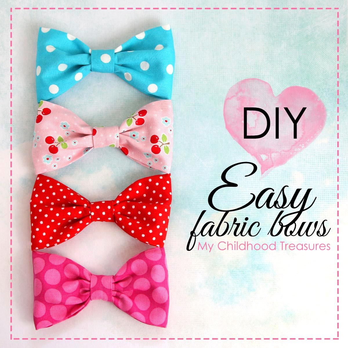 How to Make FABRIC BOWS: DIY Fabric Bows | TREASURIE