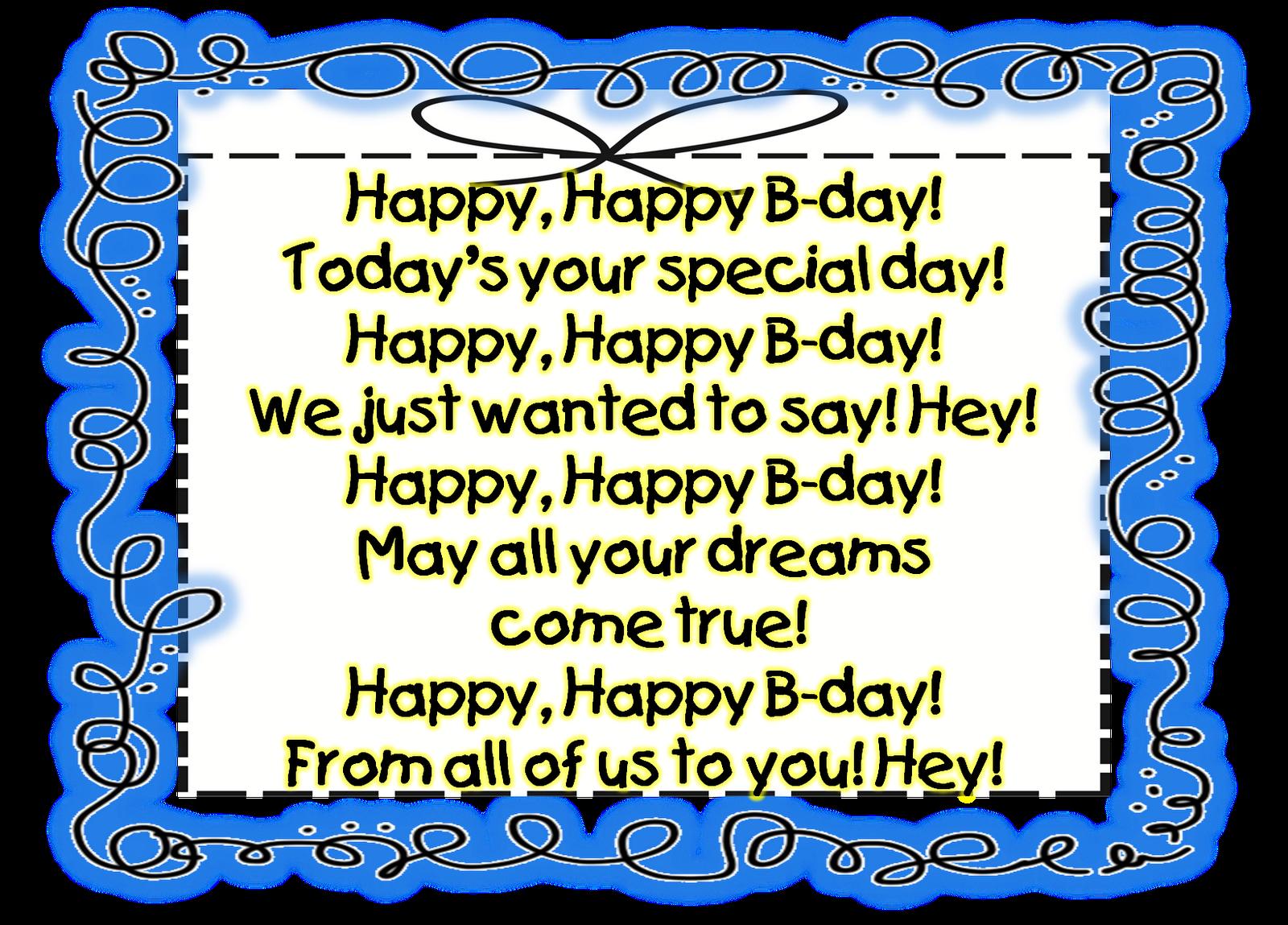 Happy Birthday! Birthday poems, Happy birthday song