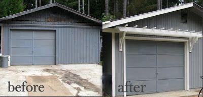 DIY Trellis Over the Garage Door | Garage doors, Garage ...