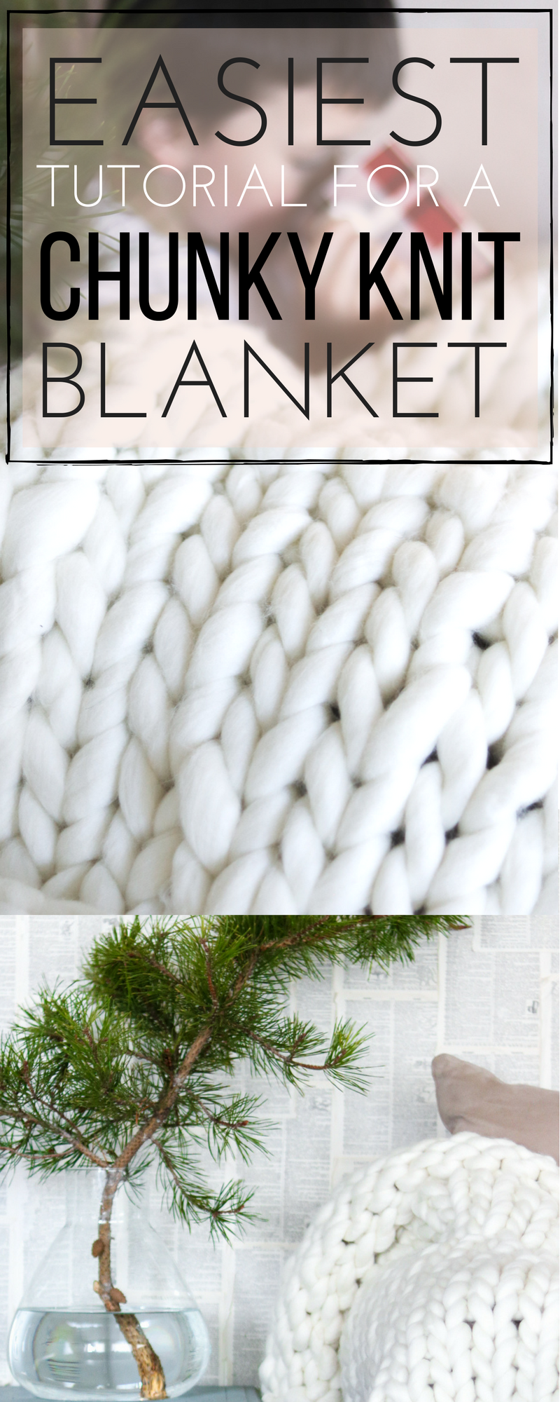 Chunky Knit Blanket DIY Find out how to Chunky knit a