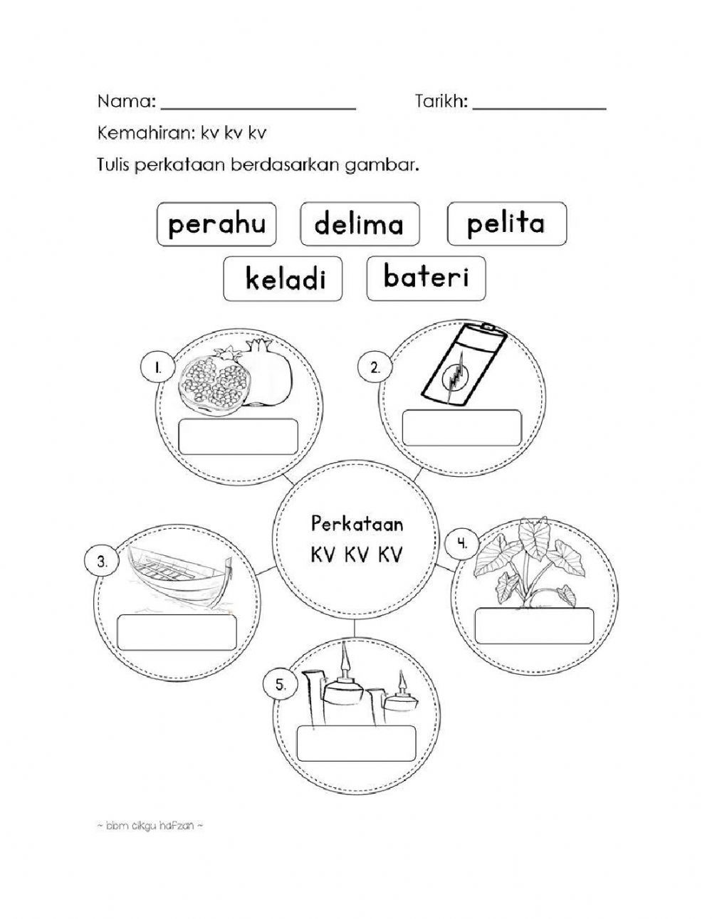 Suku Kata Kvkvkv Online Worksheet For Tahun 2 You Can Do The Exercises Online Or Download The Worksheet As Pdf In 2021 Worksheets Workbook My Teacher
