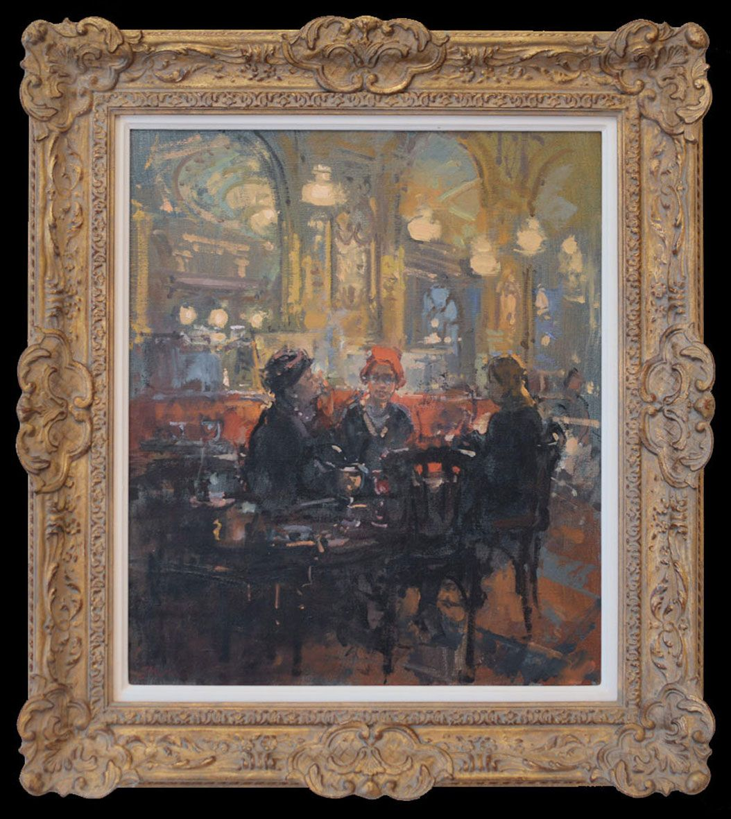 Framed oil paintings decorative frame example