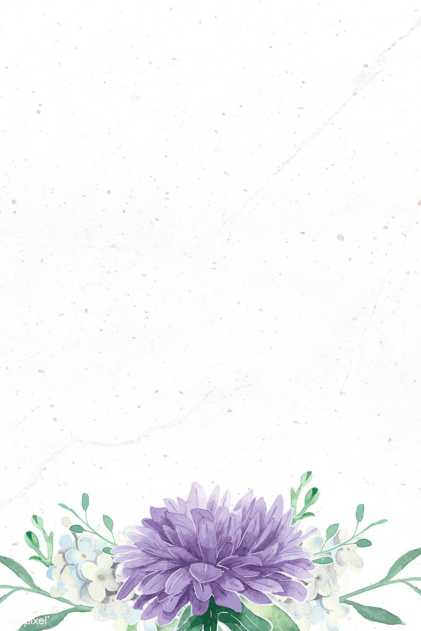 Download premium vector of Purple flower on white