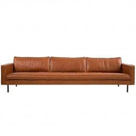 Slimm Cognac Outside Sofa 3 Seater