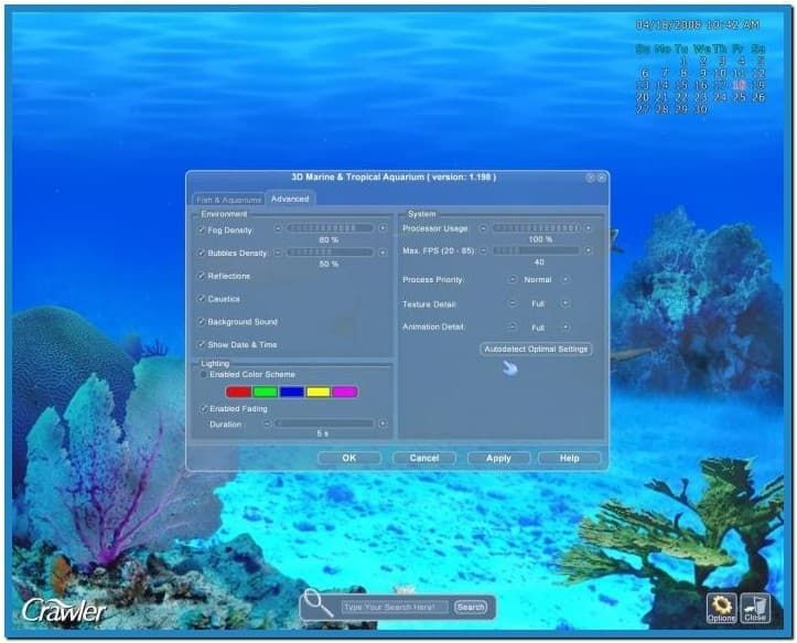 crawler 3d marine aquarium screensaver v 4.2.5.9