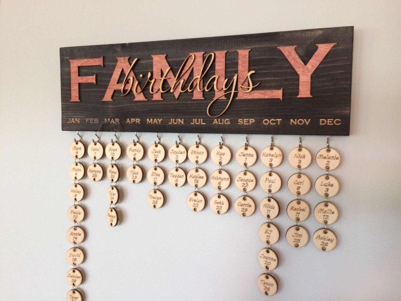 familie geburtstagskalender von lazables auf etsy. Black Bedroom Furniture Sets. Home Design Ideas