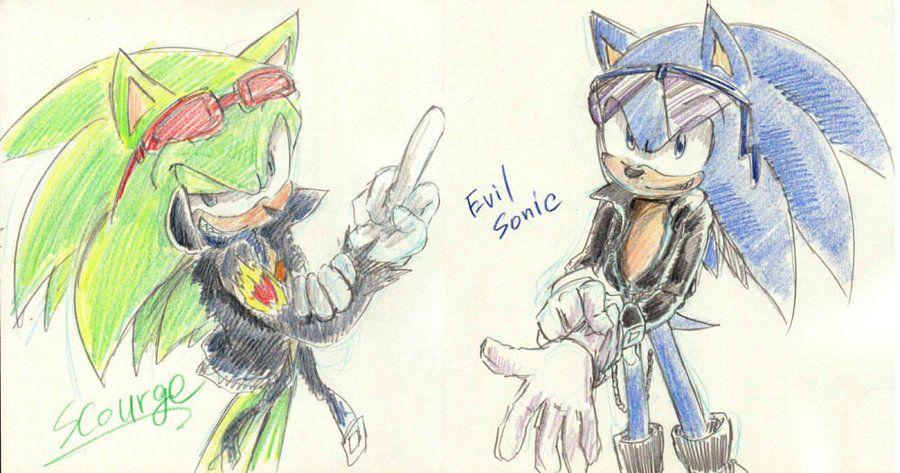 Scourge Evilsonic By Bbpopococo Deviantart Com On Deviantart Sonic Art Art Block Artist