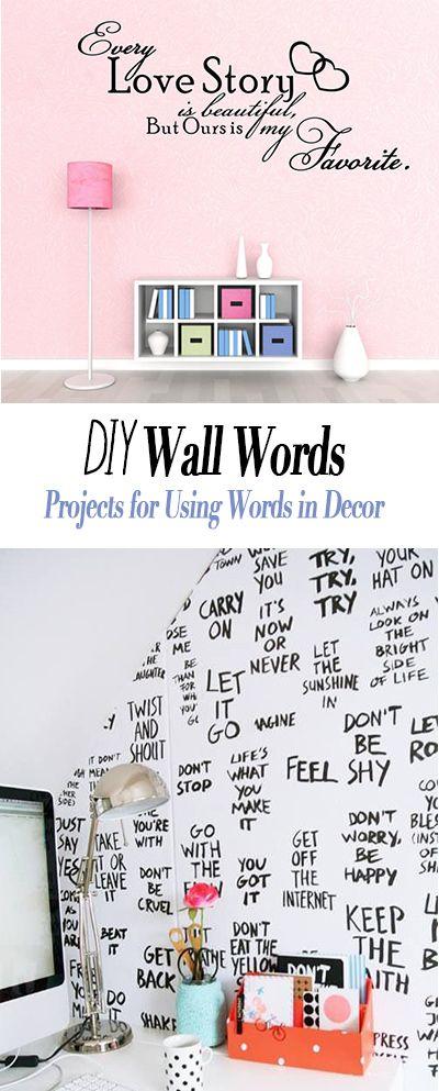 Diy Wall Words Tbd Home Decorating Ideas Diy Projects Diy