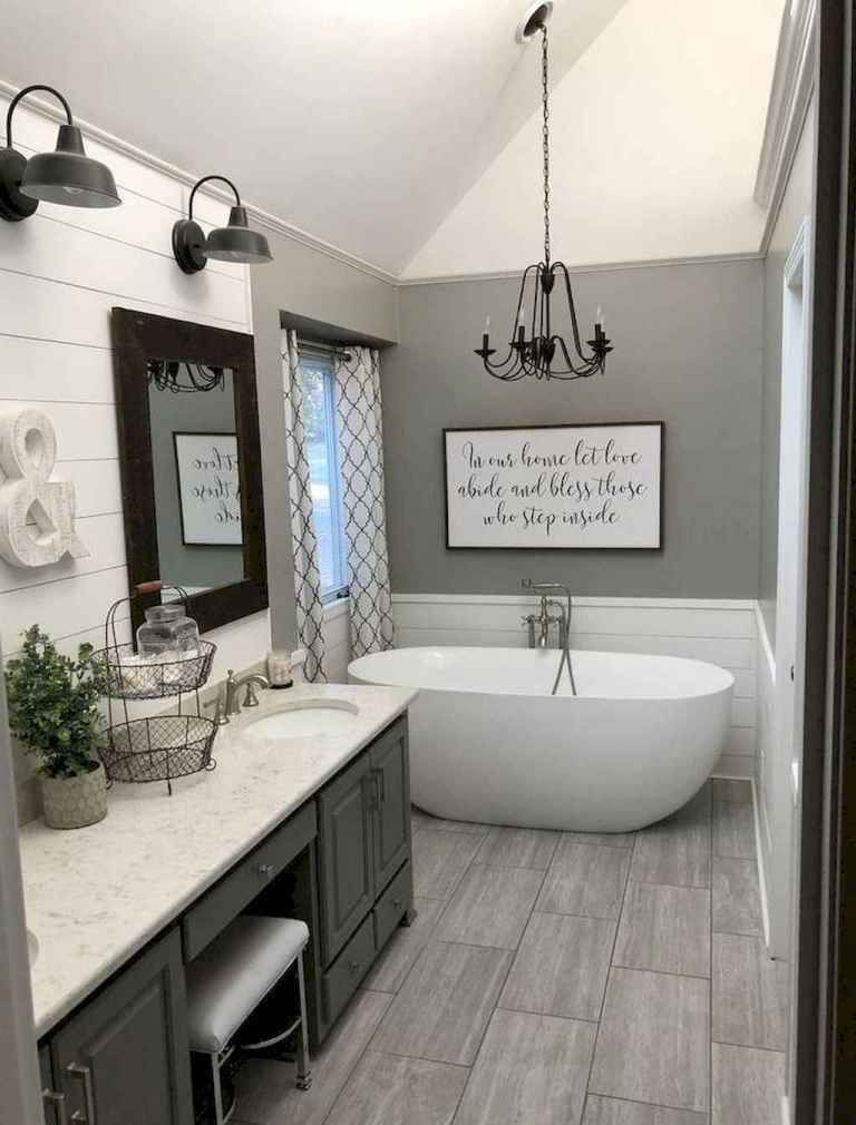 34 Farmhouse Master Bathroom Remodel Ideas - Gladecor.com