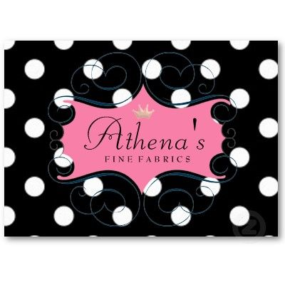 Darling Pink Frame On Black And White Polka Dots Business Card Zazzle Com Pink Frames Cards Business Card Template