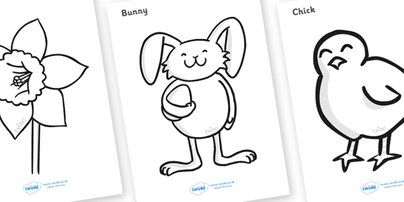 Twinkl Resources Easter Colouring Sheets Classroom Printables For Pre School