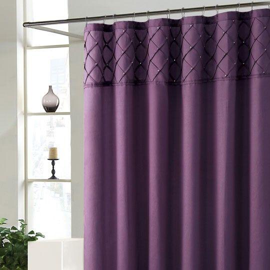 purple shower curtain everyone s