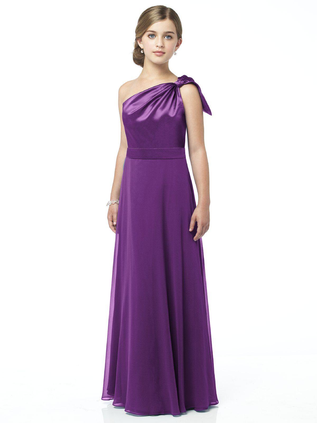 Purple Chiffon Long Flower Girl Dresses, Flower Girl Dresses ...