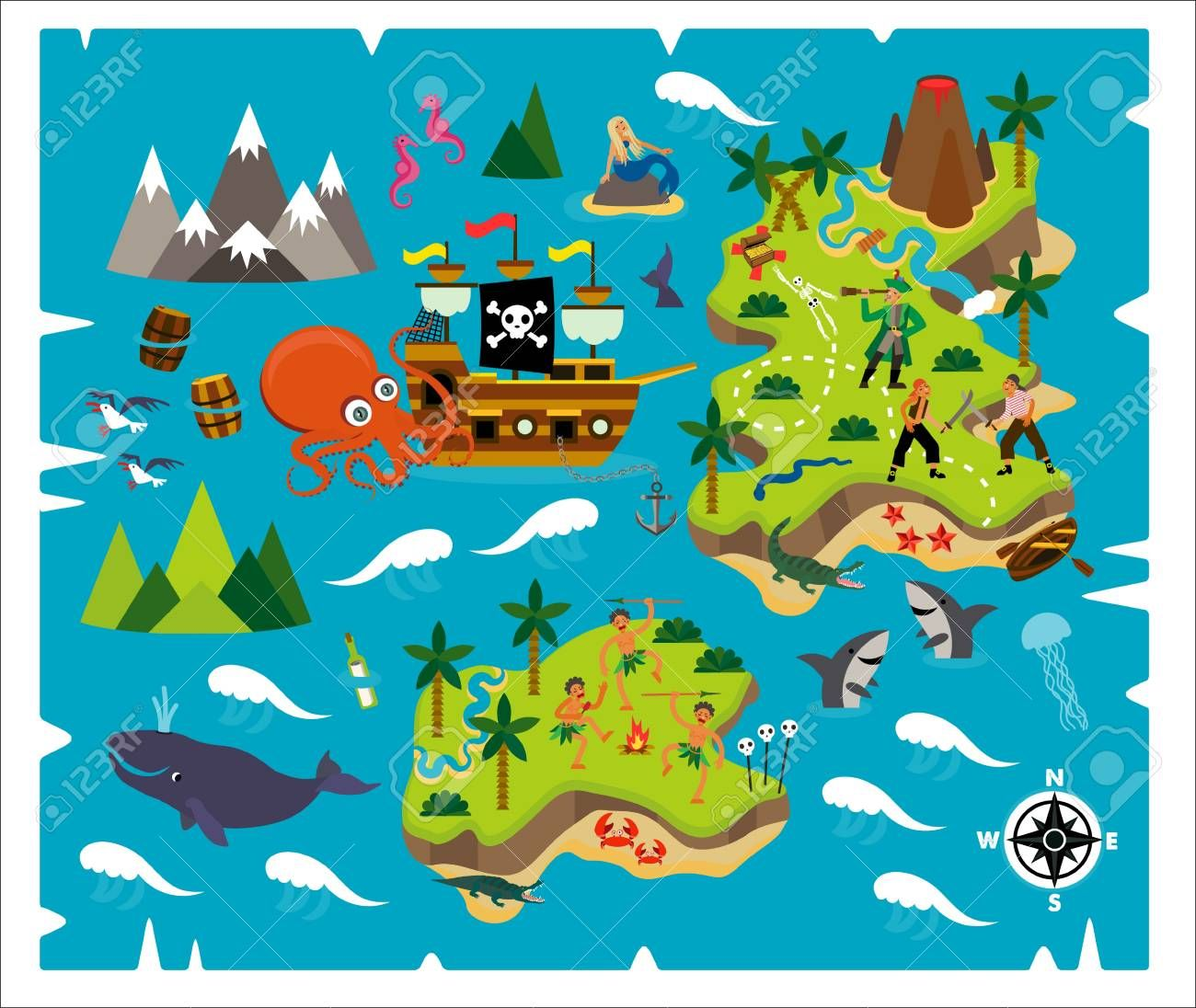 cartoon pirate map treasure travel adventure illustration affiliate map pirate cartoon treasure illustration pirate maps cartoon adventure travel cartoon pirate map treasure travel
