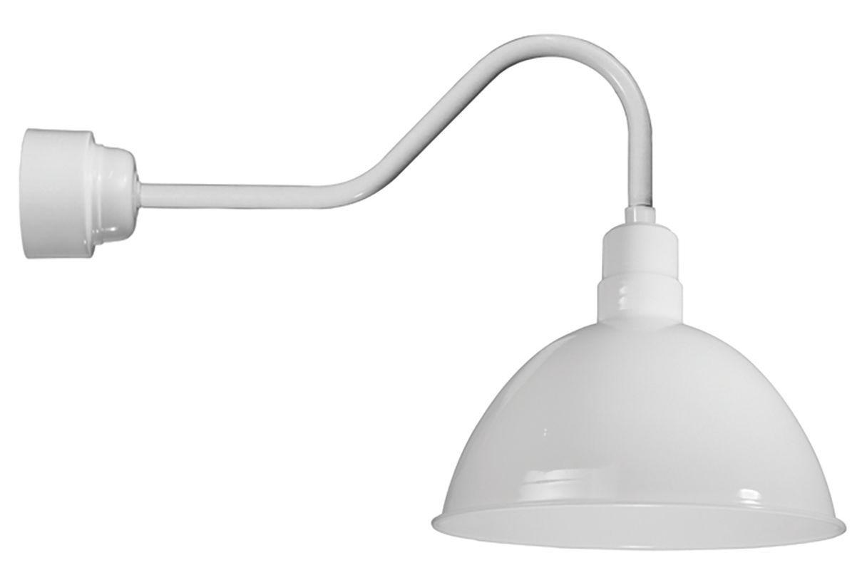 White Outdoor Lights Anp Lighting D616M016Ldnw40Krtce6 Easy Order Rlm Single Light 22