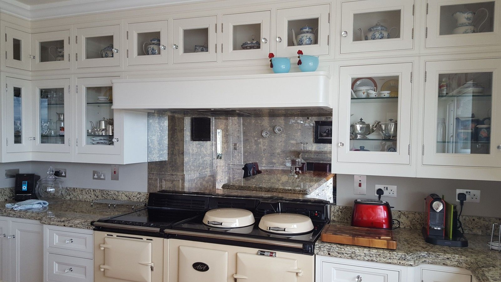 CUPBOARDS OVER EXTRACTOR Glass - Antique Mirror ...