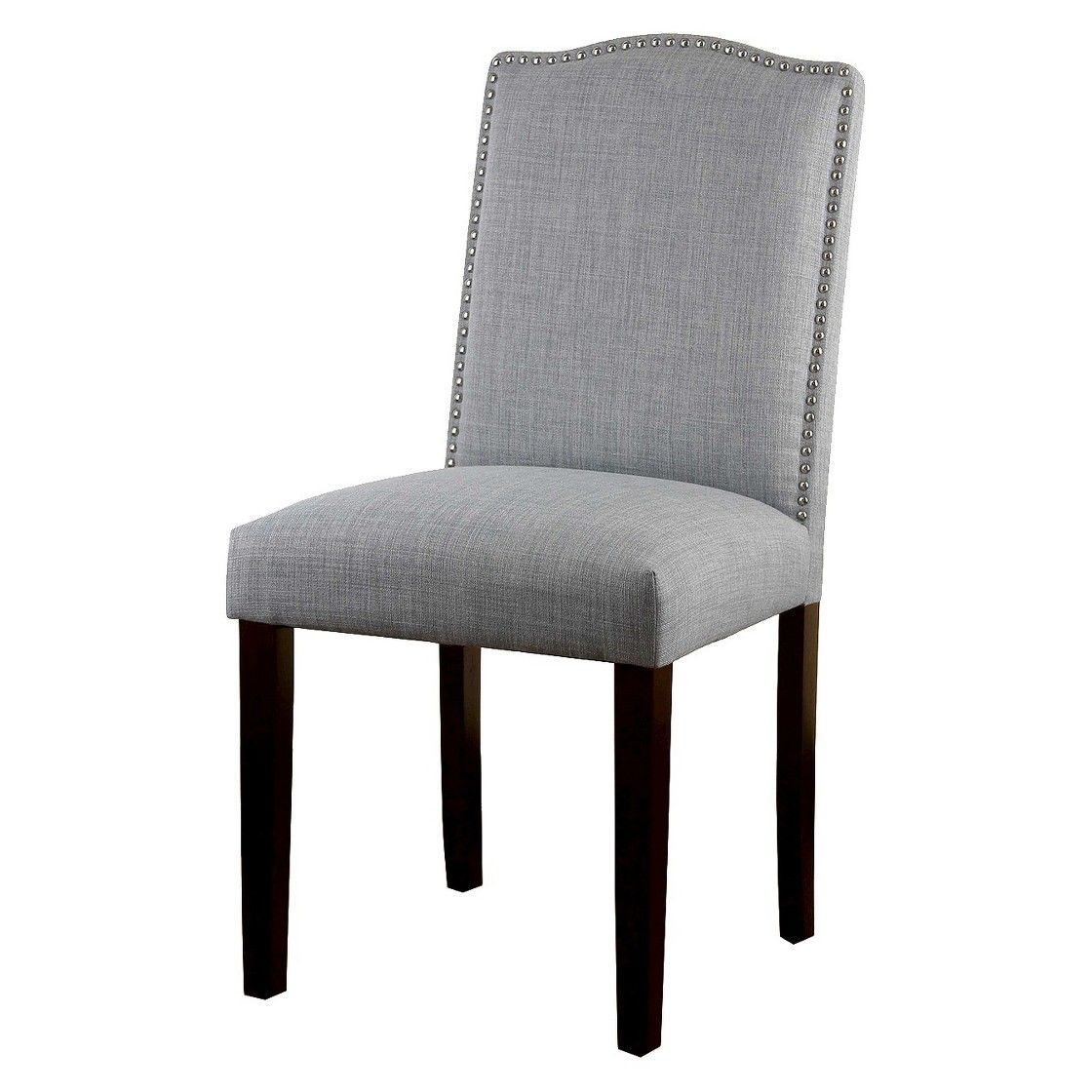 Threshold Camelot Nailhead Dining Chair Dove Gray 1 Pack